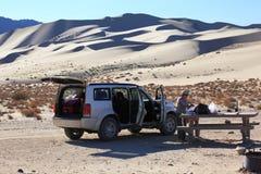 Breakfast in the desert Stock Images