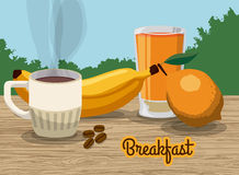 Breakfast design. Stock Images