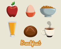 Breakfast design. Royalty Free Stock Photo