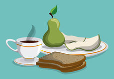Breakfast design. Royalty Free Stock Photography