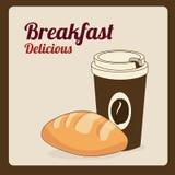 Breakfast. Design over pink background vector illustration Stock Photography