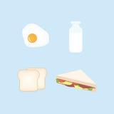Breakfast Design Set Vector Illustration. Breakfast Flat Design Set Vector Illustration Stock Image