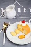 Breakfast on desk 2 Stock Images