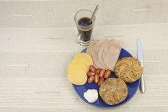 Breakfast diet, weight loss Royalty Free Stock Photography