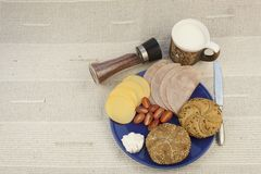Breakfast diet, weight loss Stock Photography