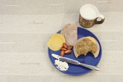 Breakfast diet, weight loss Royalty Free Stock Image