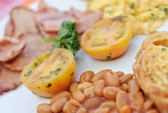Breakfast Dish. Traditional Western Breakfast Dish Served in a Restaurant Royalty Free Stock Image