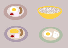 Breakfast dishes Stock Photography