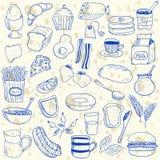 Breakfast doodles Stock Photo