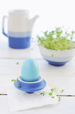 Breakfast with Easter egg and cress Royalty Free Stock Photo