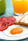 Breakfast with egg Royalty Free Stock Photography