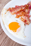 Breakfast - egg, bacon Royalty Free Stock Photography