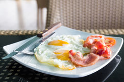 Breakfast with egg and bacon Stock Photos