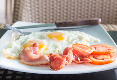 Breakfast with egg and bacon Royalty Free Stock Image