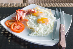 Breakfast with egg and bacon Stock Image