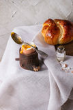 Breakfast with egg and bread Royalty Free Stock Images