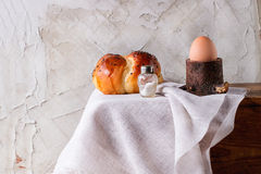 Breakfast with egg and bread Royalty Free Stock Image