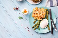 Breakfast with egg and a cup of coffee Royalty Free Stock Photography
