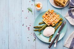 Breakfast with egg and a cup of coffee Royalty Free Stock Image