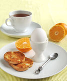 Breakfast with egg and toast Royalty Free Stock Image