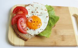 Breakfast with egg. Royalty Free Stock Photo