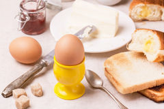 Breakfast with eggs Royalty Free Stock Photography