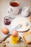 Breakfast with eggs Stock Photo