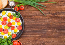 Breakfast with eggs. Stock Image