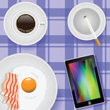 Breakfast with eggs and bacon Stock Images
