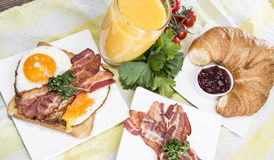 Breakfast with Eggs and Bacon Royalty Free Stock Photo