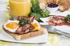 Breakfast with Eggs and Bacon Royalty Free Stock Image