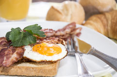 Breakfast with Eggs and Bacon Royalty Free Stock Photography