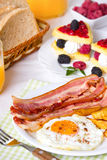 Breakfast, eggs and bacon Stock Photo