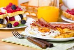 Breakfast, eggs and bacon Stock Photos