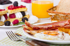 Breakfast, eggs and bacon Royalty Free Stock Image