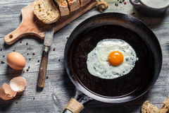 Breakfast of eggs and bread Royalty Free Stock Photography