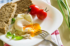 Breakfast with eggs Royalty Free Stock Photos