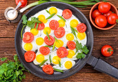 Breakfast with eggs Stock Image