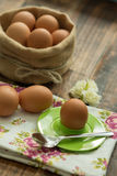 Breakfast with eggs Royalty Free Stock Photo