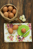 Breakfast with eggs Stock Photography