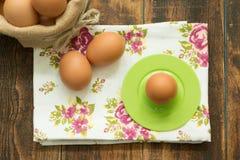 Breakfast with eggs Stock Photo