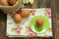 Breakfast with eggs Royalty Free Stock Images