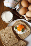 Breakfast with eggs. Meals-dish Royalty Free Stock Photos
