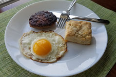 Breakfast Eggs Sausage Biscuit Stock Images