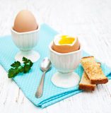 Breakfast with eggs and toast Royalty Free Stock Photography