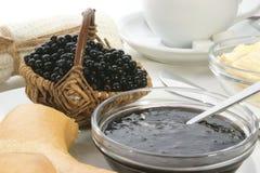Breakfast with elderberry jam Royalty Free Stock Image
