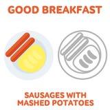 breakfast. 1205. elements. 01 Stock Images