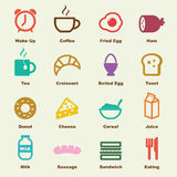 Breakfast elements Royalty Free Stock Image