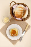 Breakfast with english muffin Royalty Free Stock Photos