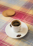Breakfast with espresso coffee  and biscuits Stock Photography